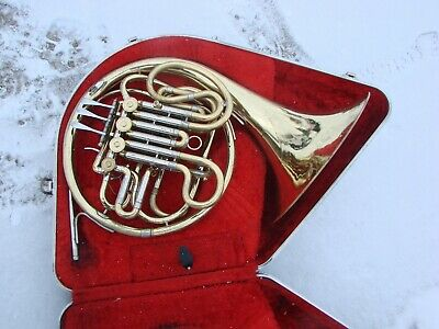 Olds Double French Horn  Made  Usa  Disinfected Good Compression Case