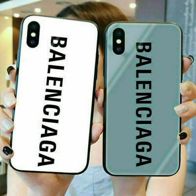 Cover Tempered Glass Balenciaga TPU Hard Case For iPhone 11 Pro Max XR XS X 7 8P