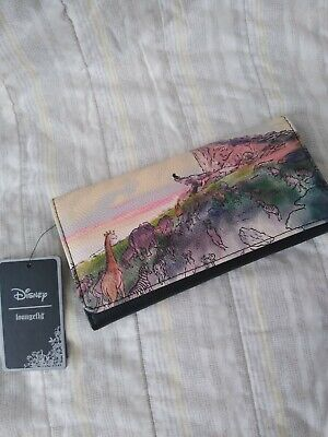 Disney Loungefly Lion King Wallet Watercolor Pastel Snap Flap Trifold NWT