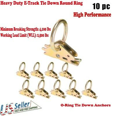 10 D XHD E Track Ring Fitting for Enclosed Trailer Cargo Van Tie Down Straps