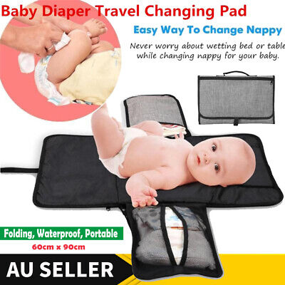 Waterproof Baby Diaper Change Pad Travel Home Changing Mat Cushion Nappy Bag AU