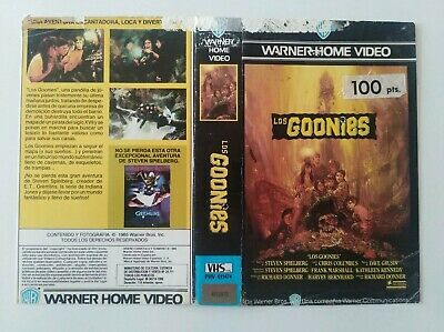The Goonies Cover First Edition vhs Spain