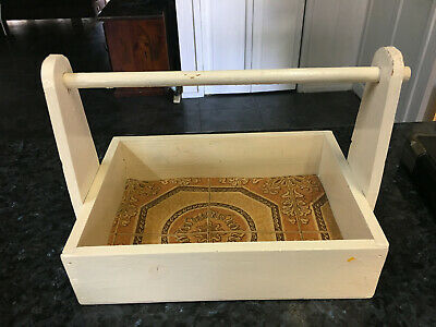 Vintage  Wooden Carry Box - For Home Or Shop - Collectable / Painted Wooden Box