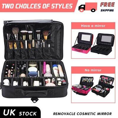 Professional Large Make Up Bag Vanity Case Nail Tech Cosmetic Storage Travel Box