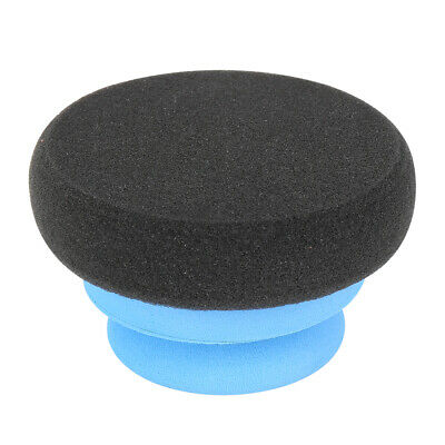 Car Round Waxing Sponge Pad Multifunction Cleaning Waxing with Handle Black Blue