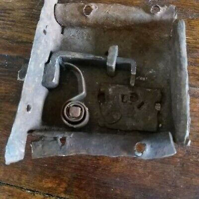 Early Wrought Iron Door Lock No Key To Restore Rare Architectural Lock