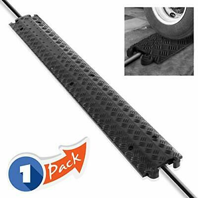 Pyle PCBLCO101BK Durable Cable Protection Ramp Cover - Supports 11,000lbs