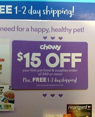 CHEWY: $15 Off your First Order of $49 - Discount Online Code [3/31/20]