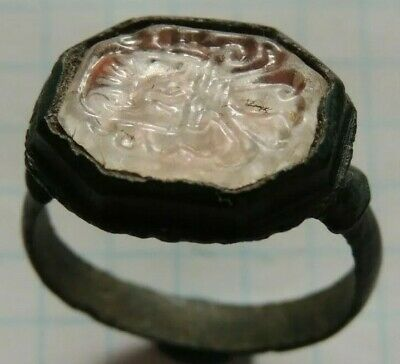 Ancient Roman ring with a seal of the 17-18th century