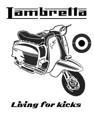 high detail airbrush stencil lambretta 14 FREE UK POSTAGE