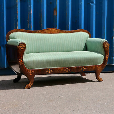 Antique Inlaid Mahogany Sofa, Denmark