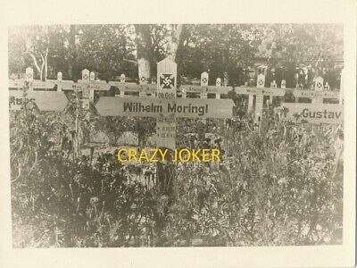 WW2 German Top !! Dead Soldier Grave NAMED  Very  Nice Photo !!! #59