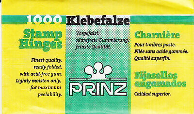 1 Unopened Pack Of Prinz Stamp Hinges 1000 Folded Lowest Price On Ebay
