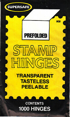 1 Unopened Pack Of Supersafe Stamp Hinges 1000 Folded Lowest Price On Ebay