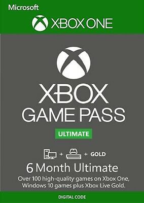 Xbox Game Pass Ultimate, 6 Month Membership, Xbox One/Win 10 PC DIGITAL DOWNLOAD