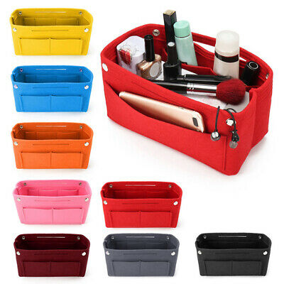 Handbag Organizer Purse Insert Bags Felt Fabric Storage Pouch Case