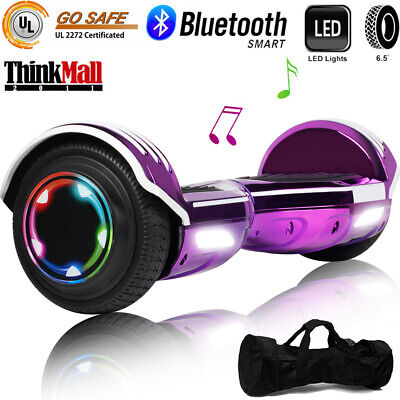 """Hoverboard Bluetooth LED Flash Smart Electric Self Balance Scooter  6.5"""" W/ Bag"""