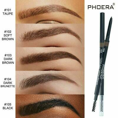PHOERA Double Ends Eyebrow Pencil Ultra Thin Tips Pen Waterproof Long-lasting