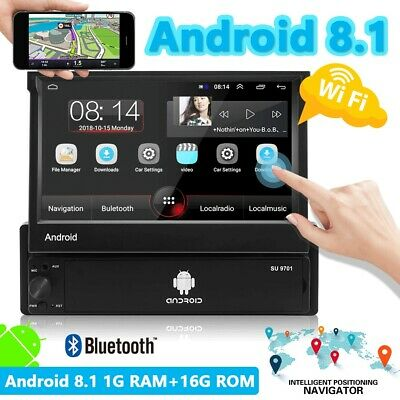 "Android8.1 autoradio 1 din 7"" Touch screen Navigazione GPS Wifi MP5 Bluetooth FM"