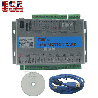 USB Mach4 CNC 4 Axis Motion Control Card Breakout Board for Machine Centre USA