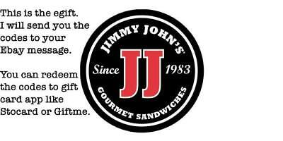 $50 Jimmy John's Gift Card (read description pls)