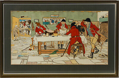 Manner of Cecil Aldin - Framed Early 20th Century Watercolour, After the Hunt