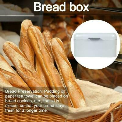 Metal Bread Storage Box Case Retro Kitchen Bread Pastry Container Solid Color