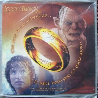 2003 New Zealand Lord Of The Rings Movie Six 50 Cent Coins Set SEALED Royal Mint