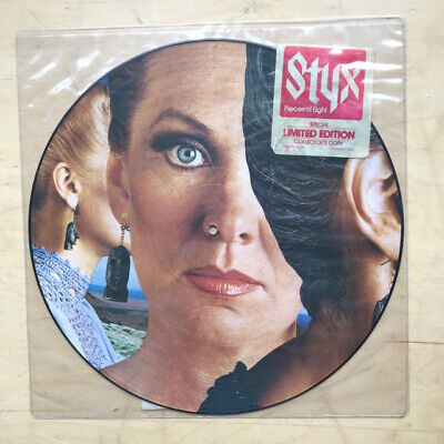 Styx Pieces Of Eight Lp Pic Disc 1978 With Title Sticker And Numbered Card Inser