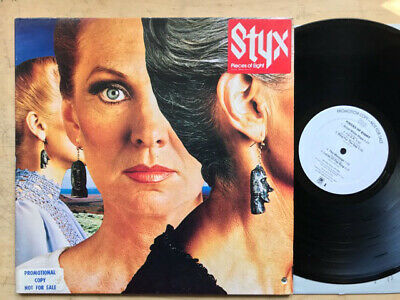 STYX PIECES OF EIGHT(W/L) LP 1978 WHITE LABEL PROMO WITH G/FOLD COVER - nice cop