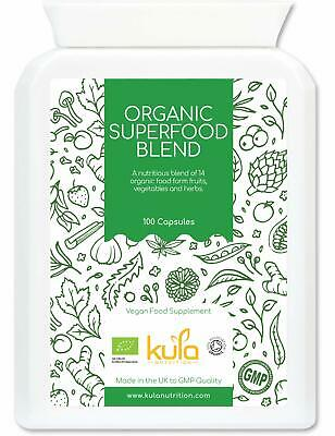 Kula Nutrition Complesso Di Superfood Vegetali Biologici 100 Capsule