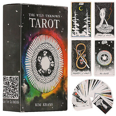 78Pcs The Wild Unknown Divination Tarot Deck Future Telling Fate Oracle Card Box