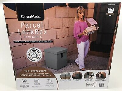 """NEW Clever Made 20"""" Waterproof Parcel Package Lock Box Safe with Access Code"""