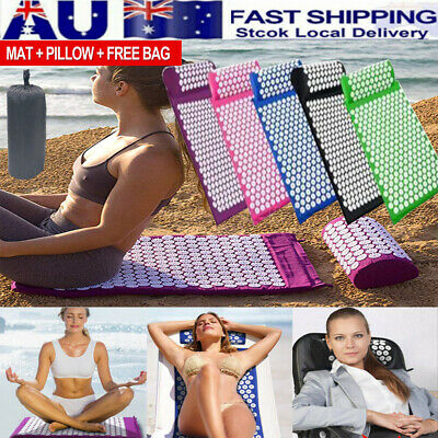 AU Yoga Massage Acupressure Mat Shakti Sit Lying Mats Pain Soreness Stress Relax