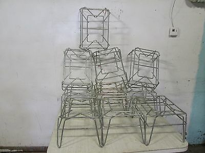 Lot Of 10 Hd Commercial Display Aisle Open Wire Micro Dunnage Rack/Risers/Stand