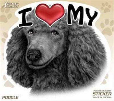 """/""""I REFUSE TO LIVE WITHOUT STANDARDS/"""" Standard Poodle BUMPER STICKER dog decal"""