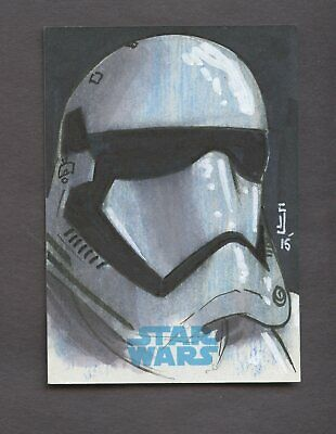 Star Wars JTTFA Journey to the Force Awakens Sketch Card CLONE TROOPER SNELL 1/1