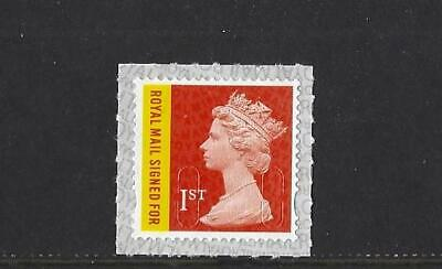 GREAT BRITAIN 2019 1st CLASS RMSF SIGNED FOR M19L MACHIN SINGLE STAMP UNMOUNTED
