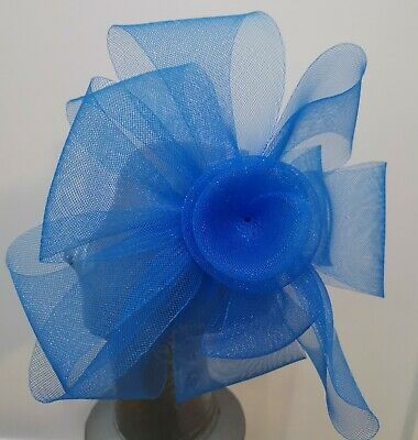 blue fascinator millinery burlesque headband wedding hat hair piece