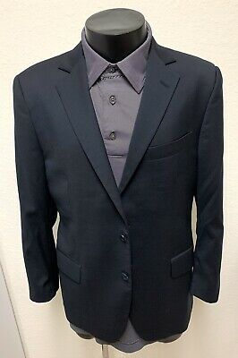 Brooks Brothers 1818 Fitzgerald Estrato Wool Suit Jacket Mens 40 S Navy Blazer