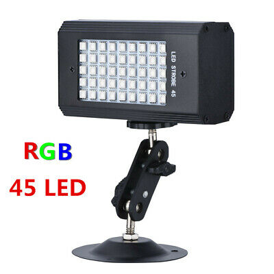 45 LED RGB Stage Strobe Light Sound Activated Lamp Club DJ Disco Party Lighting