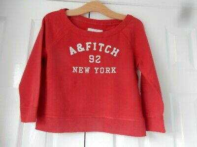 used older girls/womens long sleeved top by abercrombie and fitch size XS