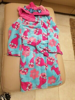 Girls Trolls Dressing Gown Immaculate Condition age 7-8