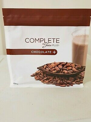 4x Juice Plus Complete Chocolate Shakes big size 480g 15 Portions each Brand New