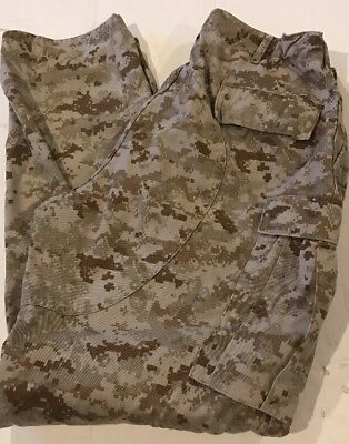 USMC UNITED STATES MARINES COMBAT DESERT DIGITAL MARPAT PANTS Medium Long NWOT