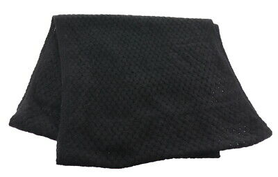 Isaac Mizrahi 2-Ply Cashmere Basketweave Infinity Scarf Solid Black NEW A255931