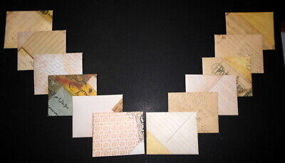 HANDMADE  VINTAGE THEME  MINI  ENVELOPES - Pack of 12  - 100mm x 80mm - 140gsm