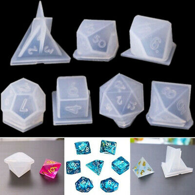 Crystal Dice Fillet Square Triangle Dice Mold Dice Digital Game Silicone Mould~