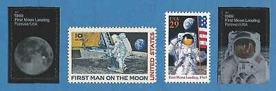 1969 2019 APOLLO 11 FIRST MAN ON THE MOON LANDING 50th Anniversary US Stamps Set