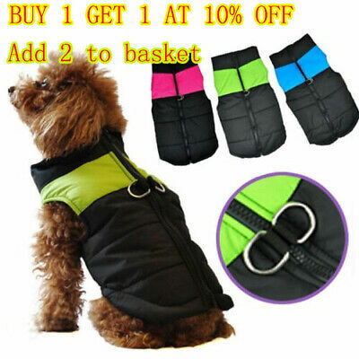 Dog Coat Winter Warm Waterproof Padded Jacket Clothes Coat For Small /Large Pet